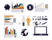 Infographics economics Royalty Free Stock Photography
