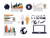 Infographics economics royalty free illustration