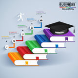 Infographics education staircase success vector design template Royalty Free Stock Photography