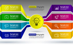 Infographics eight options with number, icons and Information te Royalty Free Stock Photo