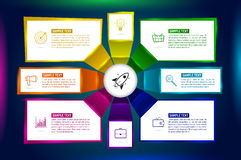 Infographics eight options with number, and Information text. Royalty Free Stock Photo