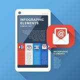 Infographics elegante abstracto del teléfono Fotos de archivo