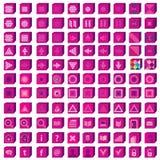 Установленные иконы сети Средства массовой информации Infographics и elem дизайна связи Стоковые Изображения RF