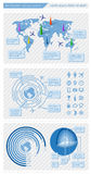 Infographics element stock illustrationer