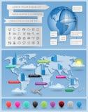 Infographics element Arkivbilder