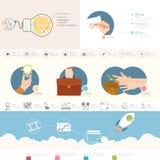 Infographics element royaltyfri illustrationer