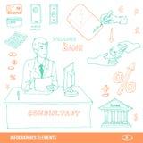 Infographics element Vektor Illustrationer