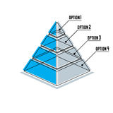 Infographics element, 3d layered pyramid, vector illustration. Creative and conceptual sign Royalty Free Stock Images