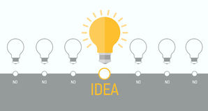 Infographics element with a light bulb. Stock Images