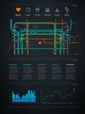 Infographics element with a map of the city Royalty Free Stock Image