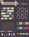 Infographics-Element-Satz für Geschäft - Vektor Stockfoto