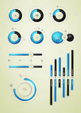Infographics element on water Royalty Free Stock Images