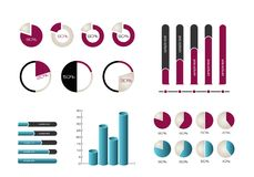 Infographics Elemente Lizenzfreie Stockbilder
