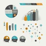 Infographics-Elemente. Lizenzfreies Stockbild