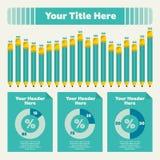 Infographics Elemente Stockbild