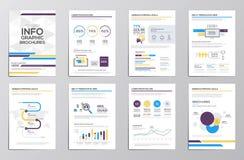 Infographics-Elemente für Unternehmensbroschüren Stockbilder