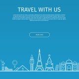 Infographics Elemente Reise und berühmte Marksteine Lizenzfreies Stockfoto