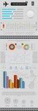 infographics Elemente und Ikonen Lizenzfreie Stockfotos