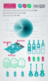 Infographics Elementikonen Stockfotografie