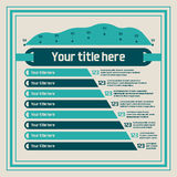 Infographics elements - bar charts, line chart Stock Image