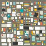 Infographics elements. Big set of flat reminder stickers. Stock Photo