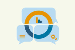 Infographics Elements bubble Royalty Free Stock Photo