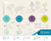 Infographics elements with business icons. can be used for education infographic, web design. Royalty Free Stock Photos