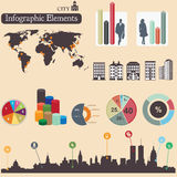 Infographics elements. City Royalty Free Stock Photography