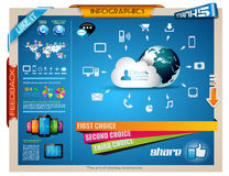 Infographics Elements for cloud computing graphs Royalty Free Stock Photo