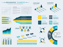 Infographics Elements Collection. Infographic Elements Collection - Business Vector Illustration in flat design style for presentation, booklet, website, diagram Stock Images