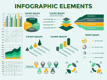 Infographics Elements Collection. Infographic Elements Collection - Business Vector Illustration in flat design style for presentation, booklet, website,  etc Stock Images