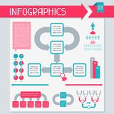 Infographics elements collection. Set 3. Infographics elements collection set 3 Stock Image