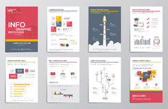 Infographics elements for corporate brochures Stock Photo