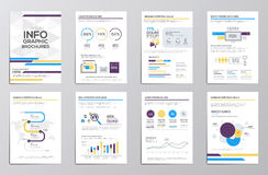Infographics elements for corporate brochures Stock Images