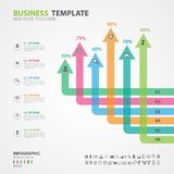 Infographics elements diagram with 6 steps, options, presentation, slide, diagram, graph, chart, timeline vector. Infographics elements diagram with 6 steps Royalty Free Stock Photo