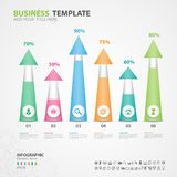 Infographics elements diagram with 6 steps, options, slide, presentation, graph, chart, diagram, timeline vector. Infographics elements diagram with 6 steps Stock Image