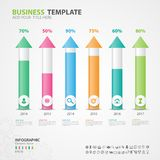 Infographics elements diagram with 6 steps, options, slide, presentation, graph, chart, diagram, timeline vector. Infographics elements diagram with 6 steps Stock Photography
