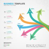 Infographics elements diagram with 6 steps, options, slide, presentation, graph, chart, diagram, timeline vector. Infographics elements diagram with 6 steps Royalty Free Stock Image