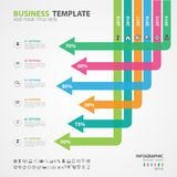 Infographics elements diagram with 6 steps, options, slide, presentation, graph, chart, diagram, timeline vector. Infographics elements diagram with 6 steps stock illustration