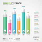 Infographics elements diagram with 6 steps, options, slide, presentation, graph, chart, diagram, timeline vector. Infographics elements diagram with 6 steps Royalty Free Stock Images