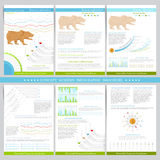 Infographics elements in flat concept stock exchange style Royalty Free Stock Photography