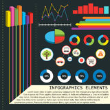 Infographics elements with graphs Royalty Free Stock Photo