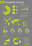Infographics elements with icons (set 3) Royalty Free Stock Photos