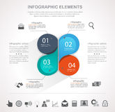 Infographics elements. Infographic design template and business icons set. Template for diagram, graph, chart, flyer, presentation, print and website . Business stock illustration