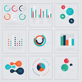 Infographics elements in modern flat business style. Royalty Free Stock Image