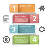 Infographics Elements with Numbers Royalty Free Stock Image