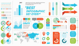 Infographics Elements and Objects Royalty Free Stock Photo