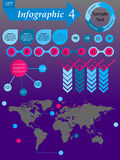 Infographics Elements Set For Business - vector Royalty Free Stock Image