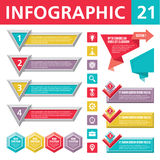 Infographics Elements 21. Set of elements for the development of creative infographics Stock Image