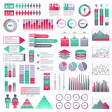 Infographics elements set. For web and mobile devices Royalty Free Stock Image
